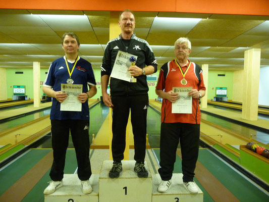 1. Platz Alfred Munz, 2. Platz Bodo Dupke, 3. Platz Walter Traichel
