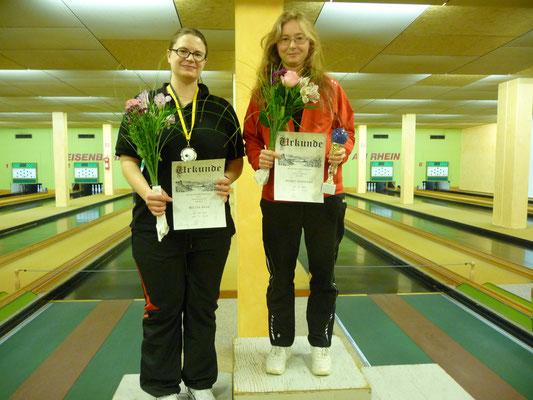 1. Platz Rosemarie Probst, 2. Platz Anja Möller