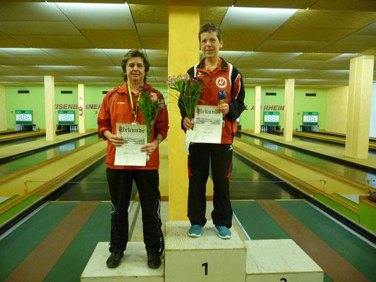 1. Platz Ellen Feier, 2. Platz Silvia Huwiler
