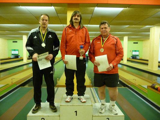 1. Platz Michael Probst, 2. Platz Klaus Heidebrecht, 3. Platz Gerhard Langendorf