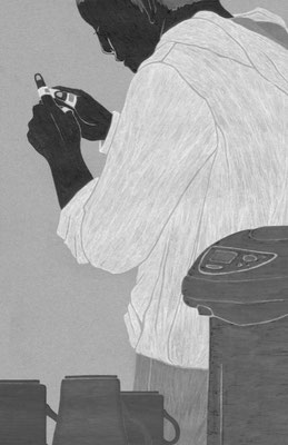ジャーロ no.63(2018)『宮本くんの手』澤村伊智氏著 扉絵 出版:光文社