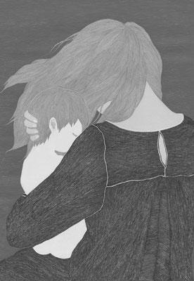 小説すばる 02月号(2017)『きみを置き去りにして』大西智子氏著 扉絵 出版:集英社