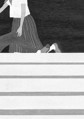 『きらら』 11月号(2018)「砕けて沈む」第5話 雛倉さりえ氏著 挿絵 出版:小学館
