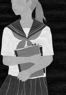 『きらら』 08月号(2018)「砕けて沈む」第2話 雛倉さりえ氏著 挿絵 出版:小学館