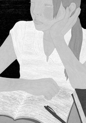 『きらら』 10月号(2018)「砕けて沈む」第4話 雛倉さりえ氏著 挿絵 出版:小学館