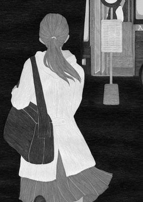 『きらら』 1月号(2019)「砕けて沈む」第7話 雛倉さりえ氏著 挿絵 出版:小学館