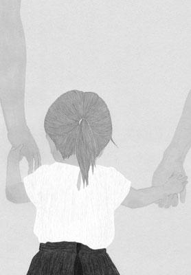 『小説新潮』 6月号(2019)「愛から生まれたこの子が愛しい」 一木けい氏著 挿絵 出版:新潮社