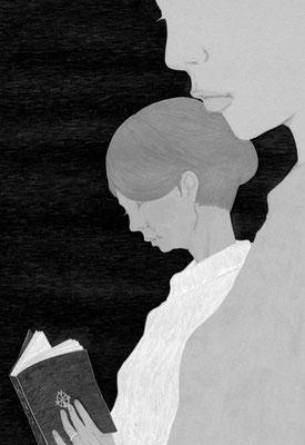 『読楽』 8月号(2018)「見知らぬ乗客」新津きよみ氏著 挿絵 出版:徳間書店