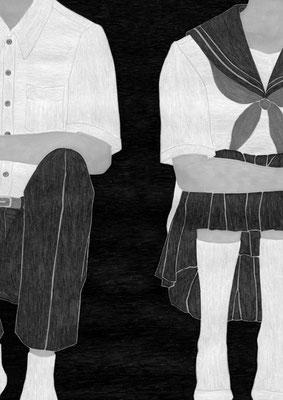 『きらら』 09月号(2018)「砕けて沈む」第3話 雛倉さりえ氏著 挿絵 出版:小学館