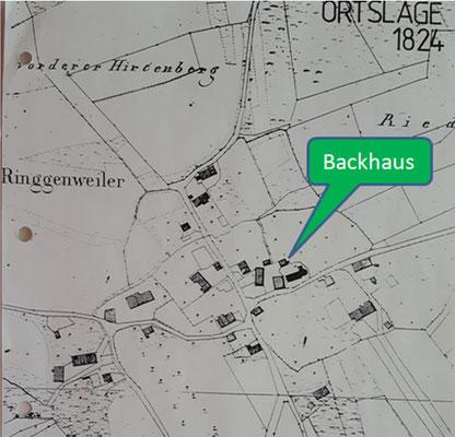 Landkarte von 1824