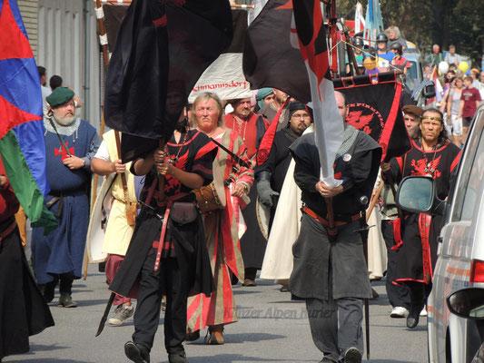 Die Tempelritter gaben sich zu Fuß die Ehre.