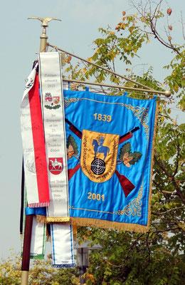 Ein Schmuckstück, die Vereinsfahne der Jungen Schützengemeinschaft Haldensleben.