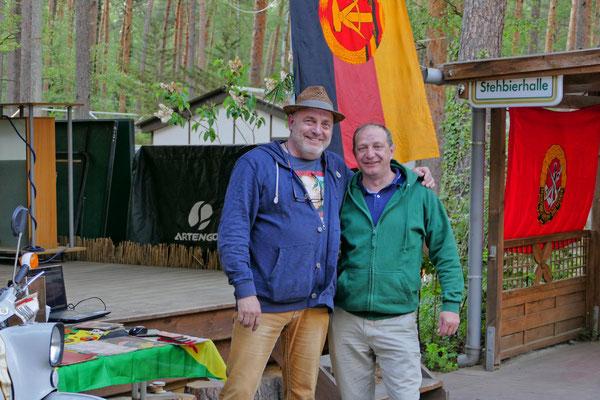 Der Ossi-Party aus der Erde Stampfer mit dem Plattenwirt