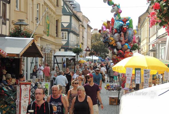 Hier der Blick vom Marktplatz in Richtung Hagentor.