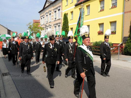 Die Männer vom Bergmannsverein kamen gern in die Kreisstadt.