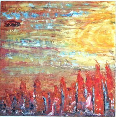 Anne Peschlow / Hoffnung Öl auf Holz, 2007 54x54 cm