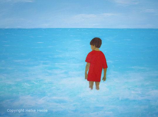 Junge am Meer, Pastell / Heike Hesse