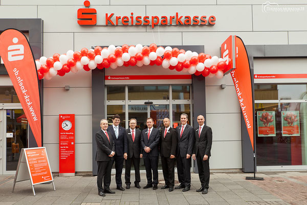 Fotografische Begleitung der Neueröffnung mehrerer Filialen der Kreissparkasse Köln im Rhein-Sieg-Kreis