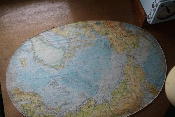 Nordmeerkarte in ungewohnter Aufmachung