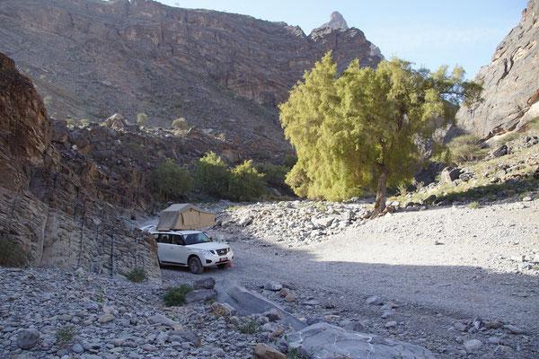 Übernachtungsplatz Snake Canyon