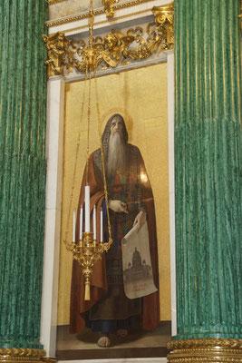 heilige Isaac ein Mosaik