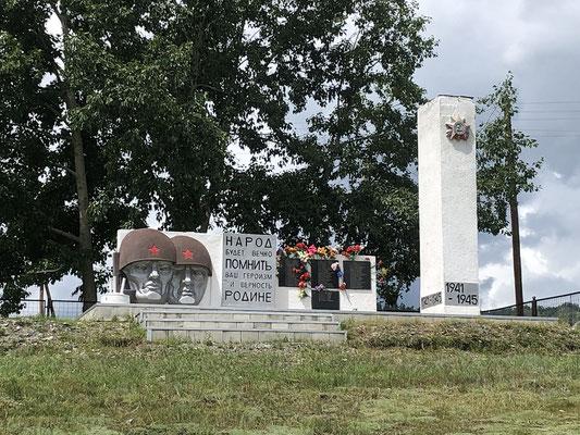 Denkmäler in jedem Dorf