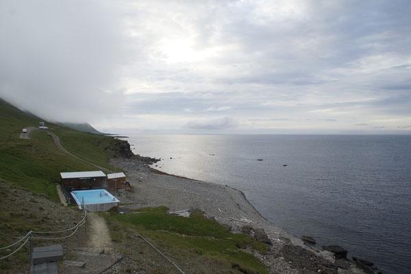 das einsamste Schwimmbad in Island....am Abend