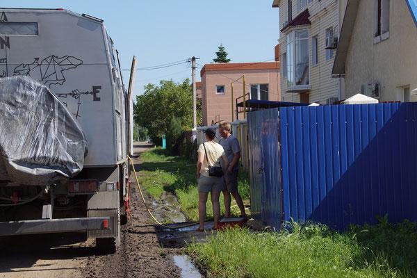 Wasser tanken, schwierig in der Ukraine