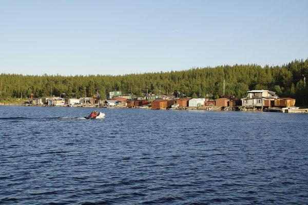 russische Fischrehütten