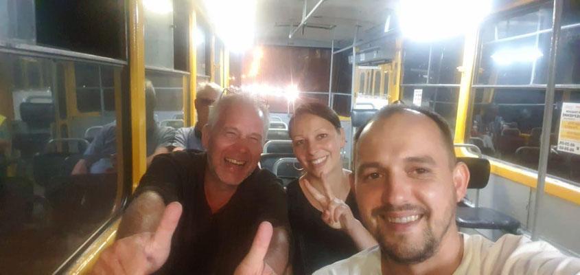 Tram fahren ein Abenteuer