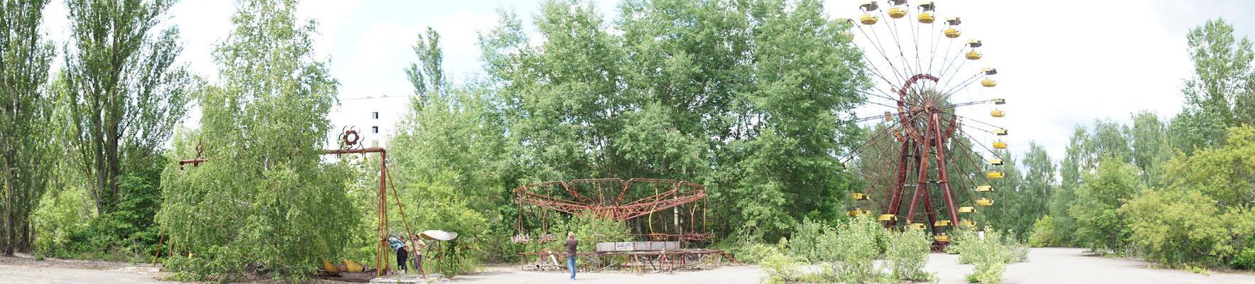 zentraler Platz der Vorzeigestadt Prypyat