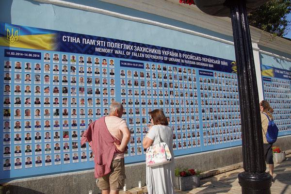 Mahnmal der Gefallenen im Ostukraine Konflikt