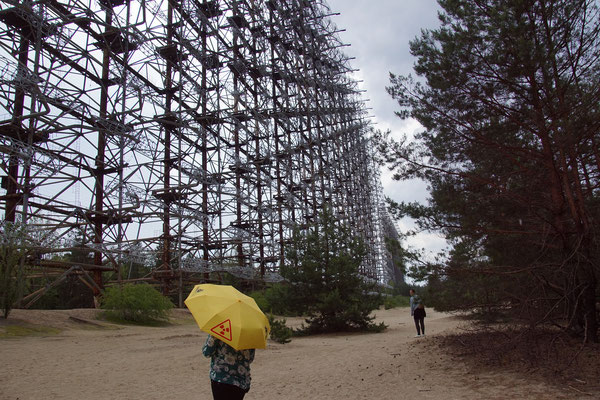 auch die militärische Radaranlage musste aufgegeben werden