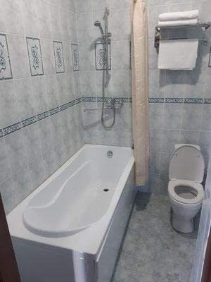 die erste Badewanne seit 3 Monaten..........