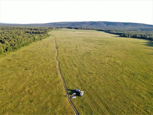 endlose Felder und Weiden