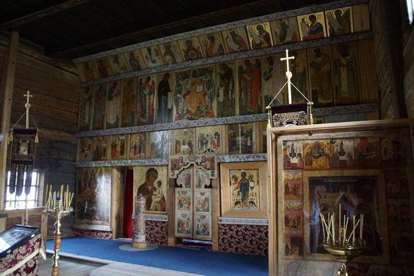 Altar mit alten Ikonen