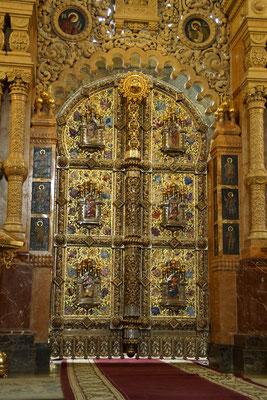 reich verzierte Tür in der Erlöserkirche