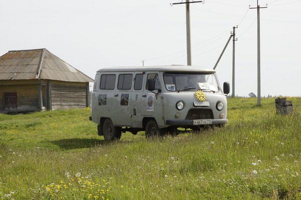 der russische VW Bus ,allgegenwärtig