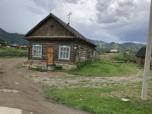 typisches Wohnhaus im Altay