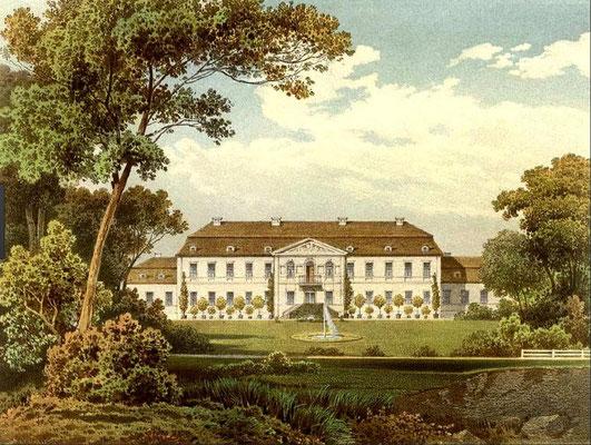 Schloss Ringenwalde, Gartenseite
