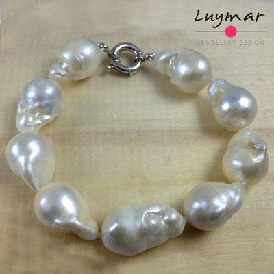 PUL-40-BARROCAS pulsera perlas plata Luymar