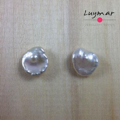 PP-10 Pendientes con perlas cultivadas keshi Luymar