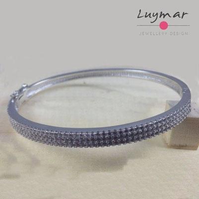 PE459 pulsera plata Luymar con circonitas