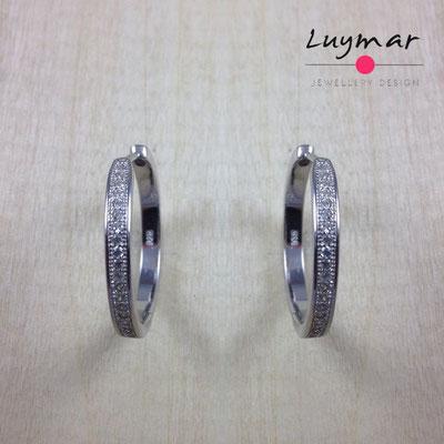 AD2100  Pendientes plata circonitas Luymar