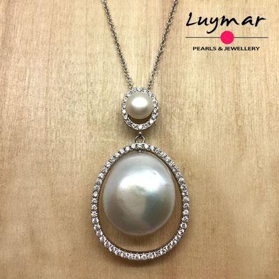 C35150 Colgantes con perlas cultivadas Luymar