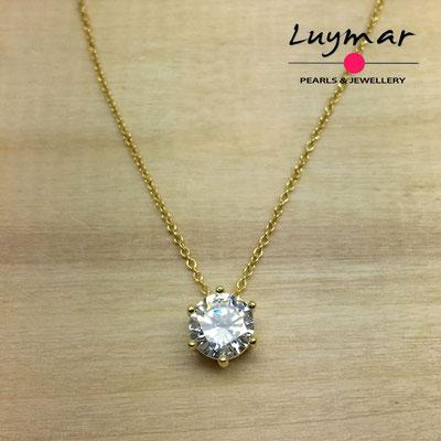C35175   Gargantilla plata circonitas 5A Luymar