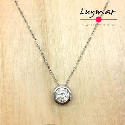 ADC2 colgante y cadena plata Luymar
