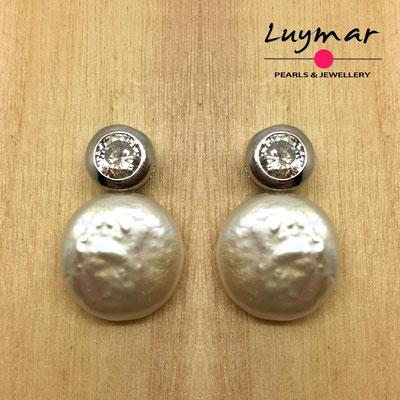 A35152  Pendientes plata perlas novia  Luymar