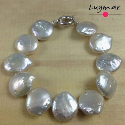 PUL-13 COIN pulsera perlas cultivadas Luymar