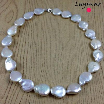 C-17-42cm coin collar perlas luymar